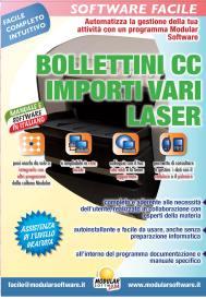 BOLLETTINI CC IMPORTI VARI LASER